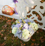 Wedding decoration in garden. Royalty Free Stock Photography