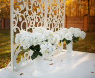 Wedding decoration in garden. Stock Photos