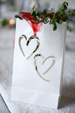 Wedding decoration with hearts Stock Photography