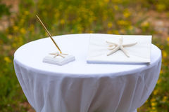 Wedding decoration objects Stock Images
