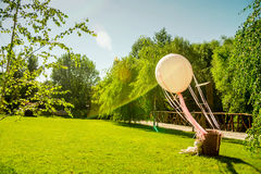Wedding decoration objects sunny summer day Stock Images