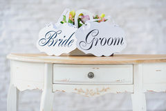 Wedding decoration ont he table Stock Images