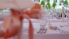 Wedding decoration. Party decoration. stock video footage
