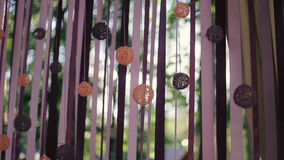 Wedding decoration. Party decoration. Violet, pink and purple stock video