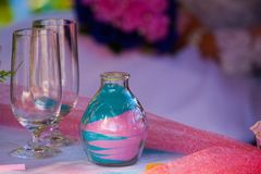 Wedding Decoration. On the Wedding party made this image. Table decoration Stock Images