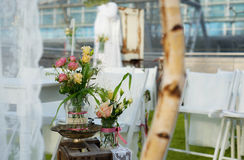 Wedding decoration for the table stock images
