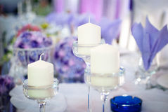 Wedding decoration on table. Floral arrangements and decoration. Arrangement of pink and white flowers in restaurant for luxury wedding event Royalty Free Stock Image