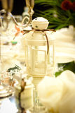 Wedding decoration on table Royalty Free Stock Images