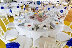 Wedding Decoration Table Set Royalty Free Stock Photos