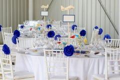 Wedding Decoration Table Set Royalty Free Stock Photo