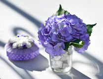 Wedding decoration on table. Royalty Free Stock Photos