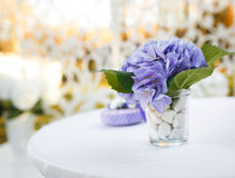 Wedding decoration on table. Stock Image