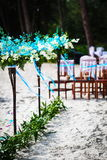 Wedding decoration in Thai. Macro. Decorations for wedding ceremony on the beach in Thailand Royalty Free Stock Photos