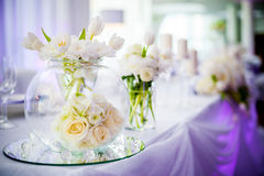Wedding decoration with tulip Royalty Free Stock Photo