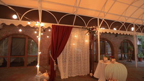 Wedding decoration. Wedding arch stock video