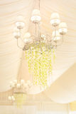 Wedding decoration in white color Stock Photos