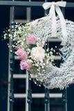 Wedding decoration of white and purple roses Stock Image