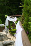Wedding decorations. In a full nature location Royalty Free Stock Image