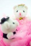 Wedding decorations bears toys Stock Photos