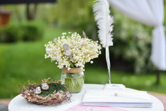 Wedding decorations. Nature, wedding ceremony Royalty Free Stock Photo