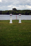 Wedding decorations in a park. Stock Photos