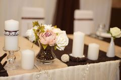 Wedding decorations . Flowers and coffee beans. Wedding decorations . Poor flowers and coffee beans Stock Images