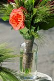 Wedding decorations red roses Royalty Free Stock Photos