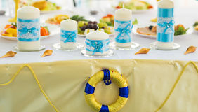 Wedding decorations tropical sea ocean style Royalty Free Stock Photo