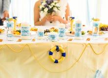 Wedding decorations tropical sea ocean style Stock Photos