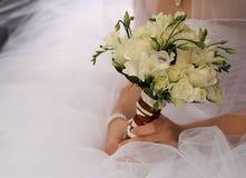 Wedding decorations white flowers Royalty Free Stock Image