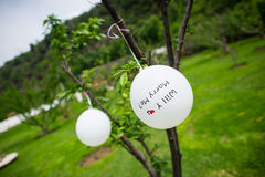 Wedding decorations Stock Photography