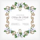 Wedding Decorative Frame Stock Photo