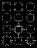 Wedding decorative frames (black and white) Stock Photos
