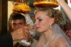 Wedding in der Kirche. Lizenzfreie Stockfotografie