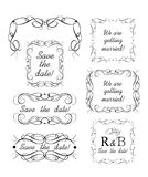 Wedding design with decorative frames, headers and vignette. Wedding design collection decorative frames, headers and vignette Vector Illustration