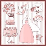 Wedding design elements Royalty Free Stock Photos