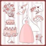 Wedding design elements royalty free stock photos