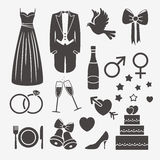 Wedding design elements Royalty Free Stock Photography