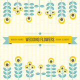 Wedding design elements - flowers and ribbon Royalty Free Stock Photos