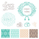 Wedding design elements Stock Images