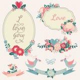 Wedding design elements. Royalty Free Stock Photos