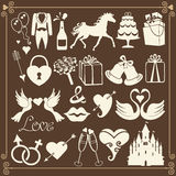 Wedding Design Flat icons for Web and Mobile.Vector Stock Images