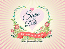 Wedding design invitation card vector illustration Stock Photo