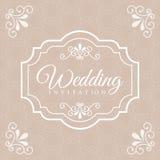 Wedding design Stock Image