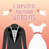 Wedding design Stock Photos