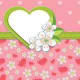 Wedding Design template.Cherry flowers and hearts  Stock Images