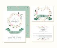 Wedding design template. Floral decoration style  illustra Stock Photos