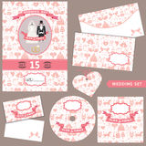 Wedding Design  template set.Pattern decoration Royalty Free Stock Photo