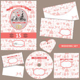 Wedding Design  template set.Pattern decoration Royalty Free Stock Image