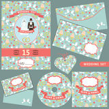 Wedding Design  template set.Pattern decoration Royalty Free Stock Images